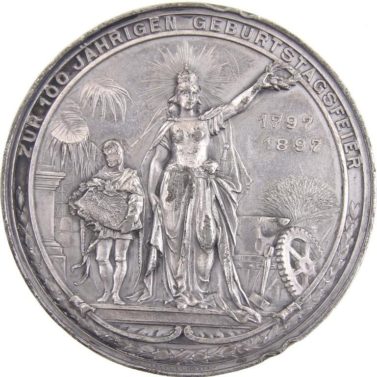 Bleimedaille auf den 100.Geburtstag Wilhelm I. von Preussen 1897, Ergebnis 80 Euro