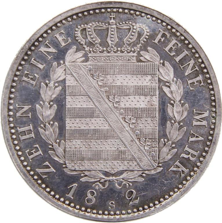 Speziestaler Silber, Sachsen 1824, Rarität,Auktionspreis 6100 Euro