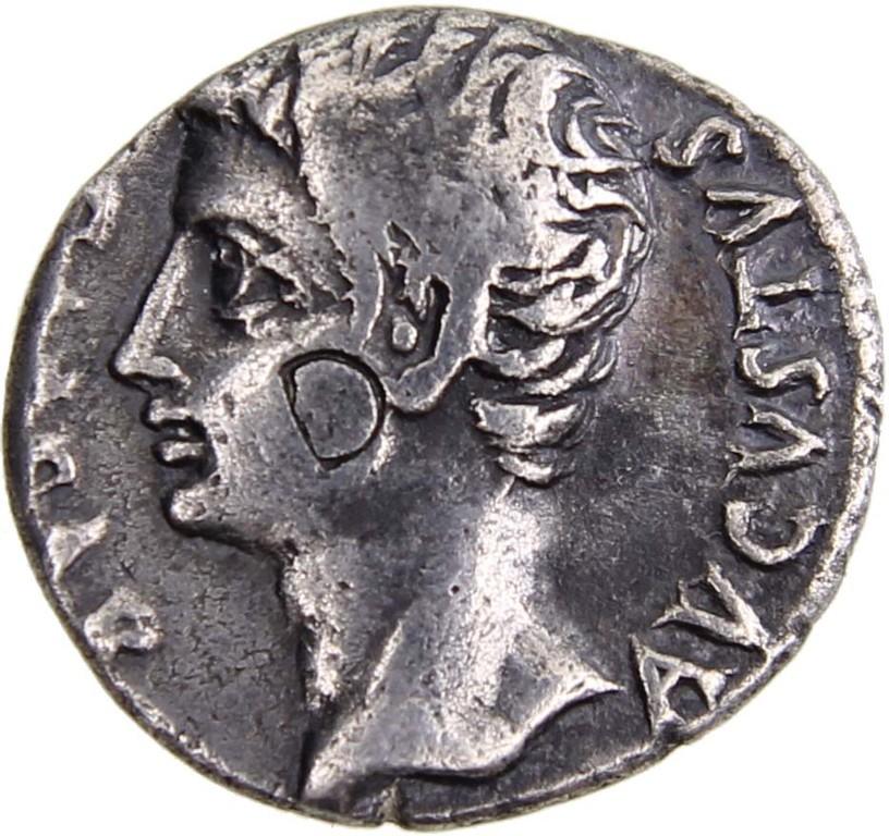 Silberdenar Römisches Kaiserreich, Caius Octavius Augustus, Erlös 220 €