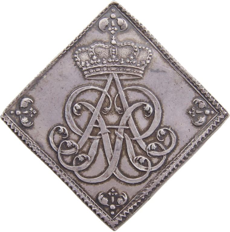 Talerklippe Silber, Sachsen 1728, 'August der Starke',selten, Ergebnis 11000 €