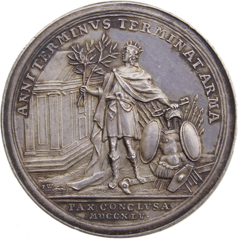 Silbermedaille Preußen 1745, Frieden v. Dresden, Ergebnis 3400 €