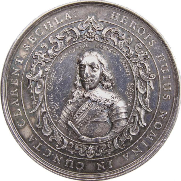 Silbermedaille auf die Einnahme Breisachs 1638, Sachsen-Weimar, Auktionserlös 2100 €