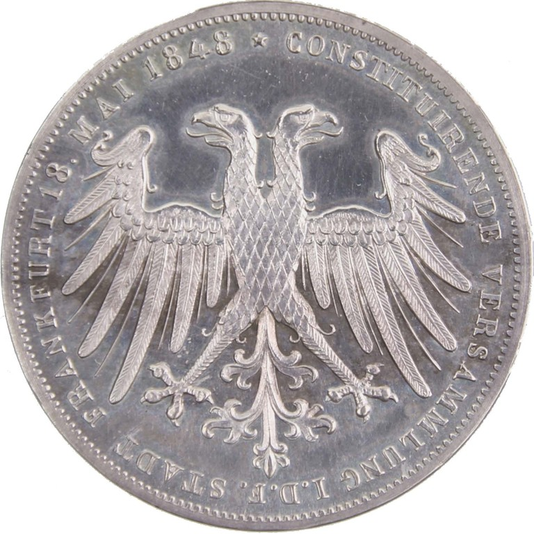 2 Silbergulden, Preussen / Frankfurt 1849, Ergebnis 2500 €