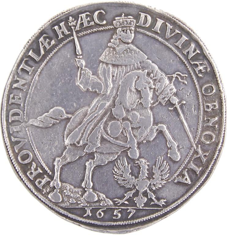 Silbertaler Braunschweig, 'Souveränitätstaler' 1657, Ergebnis 3200€