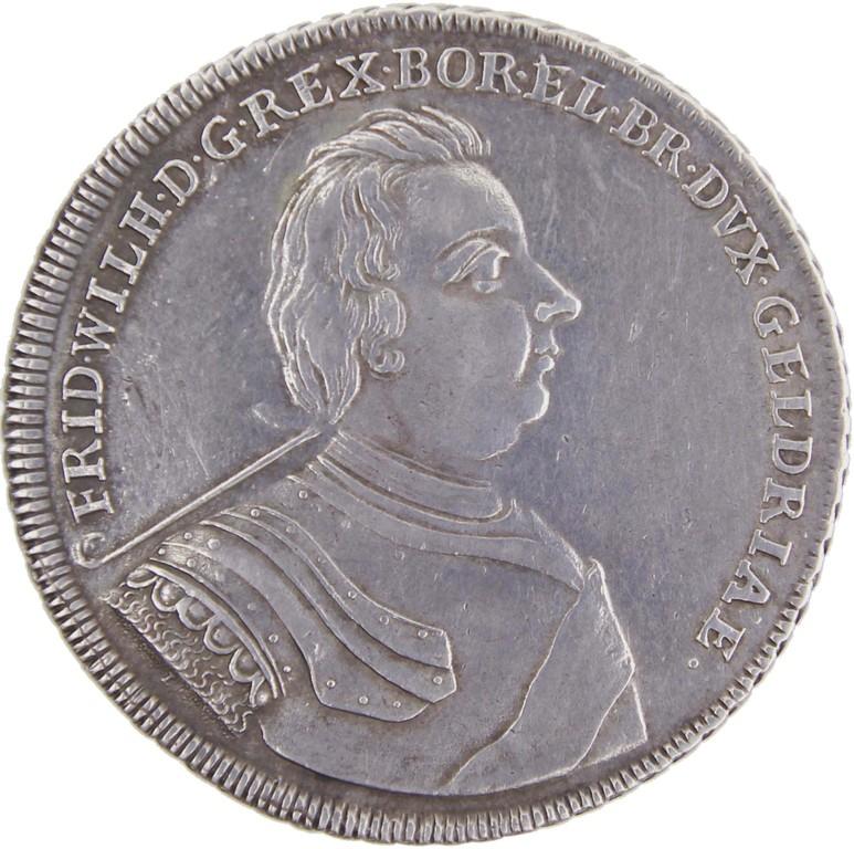 Silbertaler Preußen 1718, Münzmeister HFH, Ergebnis 5900 Euro