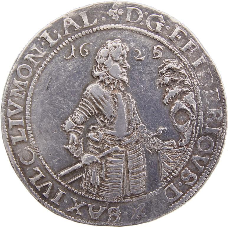 Silbertaler Sachsen 1625, 'Sterbetaler',Stempelfehler,Auktionspreis 4100 €