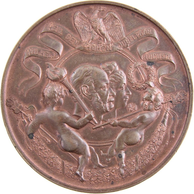 Bronzemedaille Preußen 1887, Berlin Medailleur Krohm, Auktionserlös 120 €