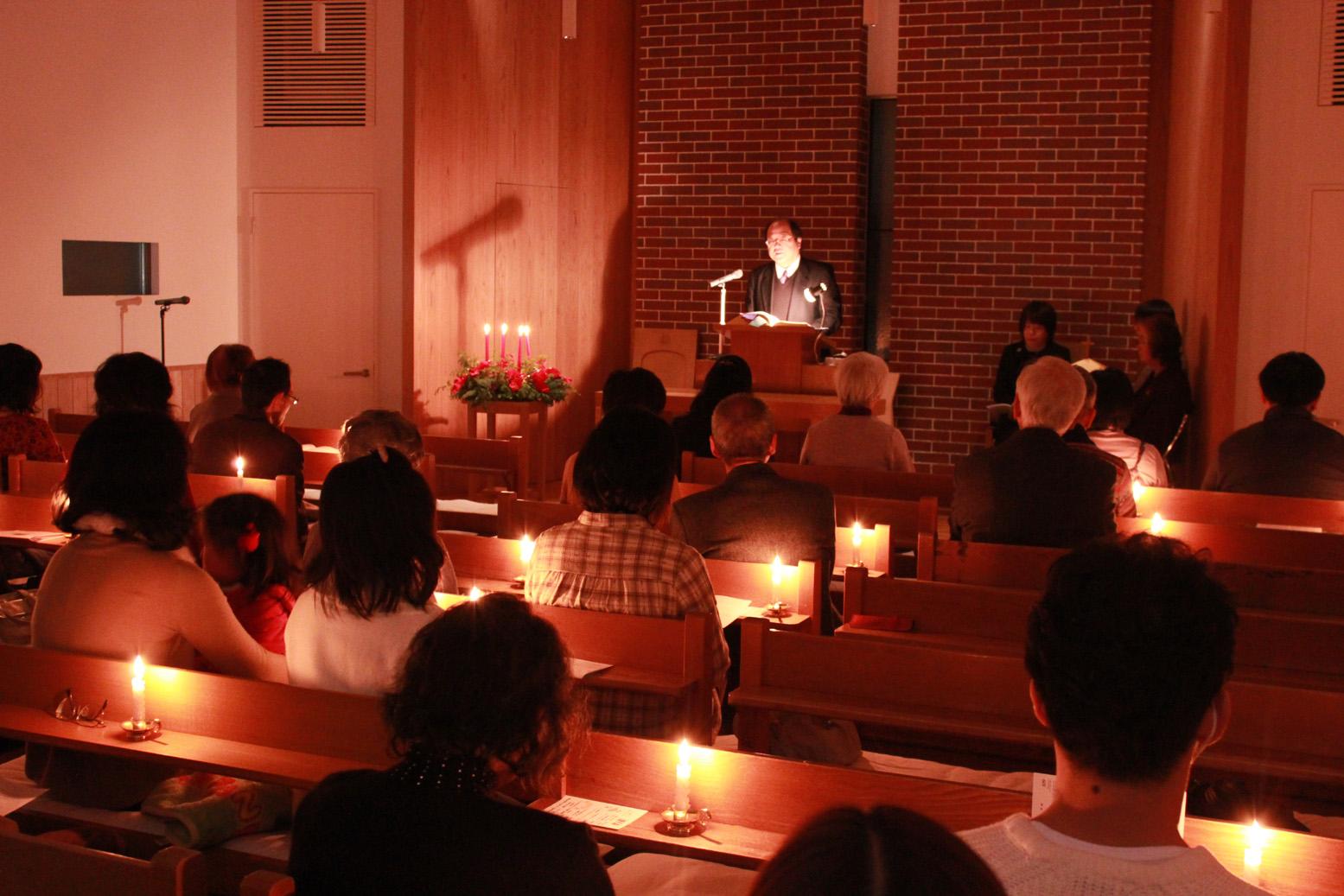 クリスマス・イブ燭火礼拝