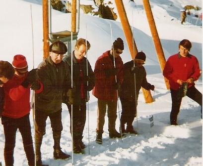 Lawinenübung Belalp 1971