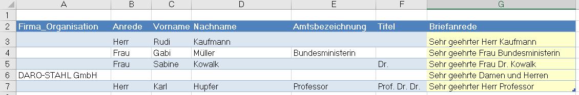 Word Seriendruck Briefanrede Per Excel Formel Zusammengebastelt