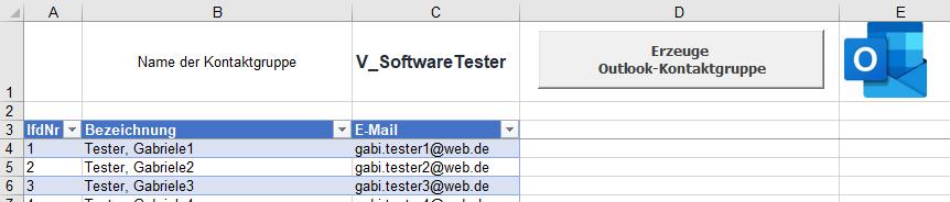 Outlook und Excel: Kontaktgruppe per Knopfdruck aus einer Excel-Liste erstellen