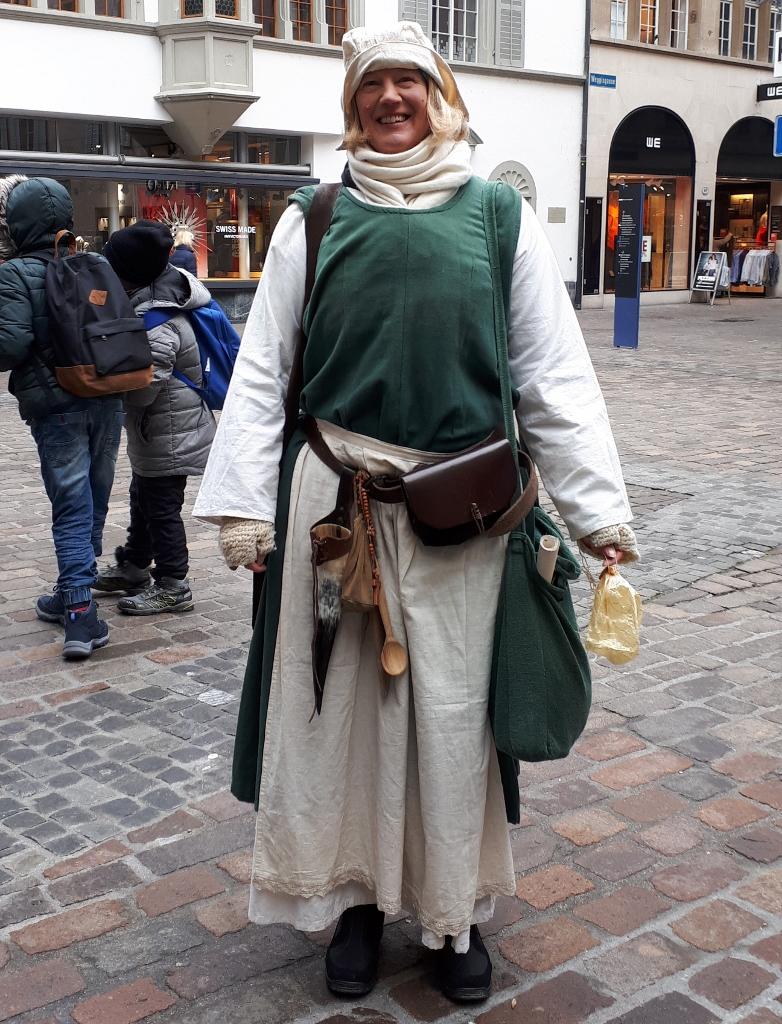 Frau aus dem Mittelalter