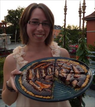 Bild: Backform mit einer Schoko-Frangipane-Tarte