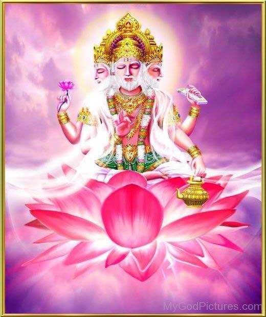 Brahmaji meditaion on the lotos