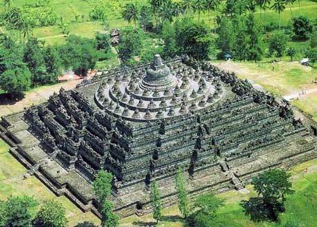 Meru Temple  Borobudur / Java