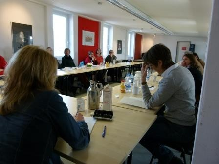 Arbeitskreissitzung des AfB, rechts im Bild Manuela Mahlke-Göhring