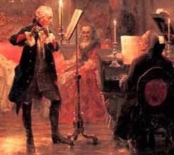 フルートを演奏するフリードリヒ大王