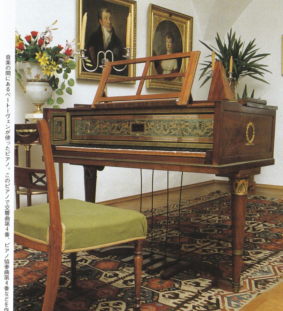 ベートーヴェンが交響曲を作曲したピアノ