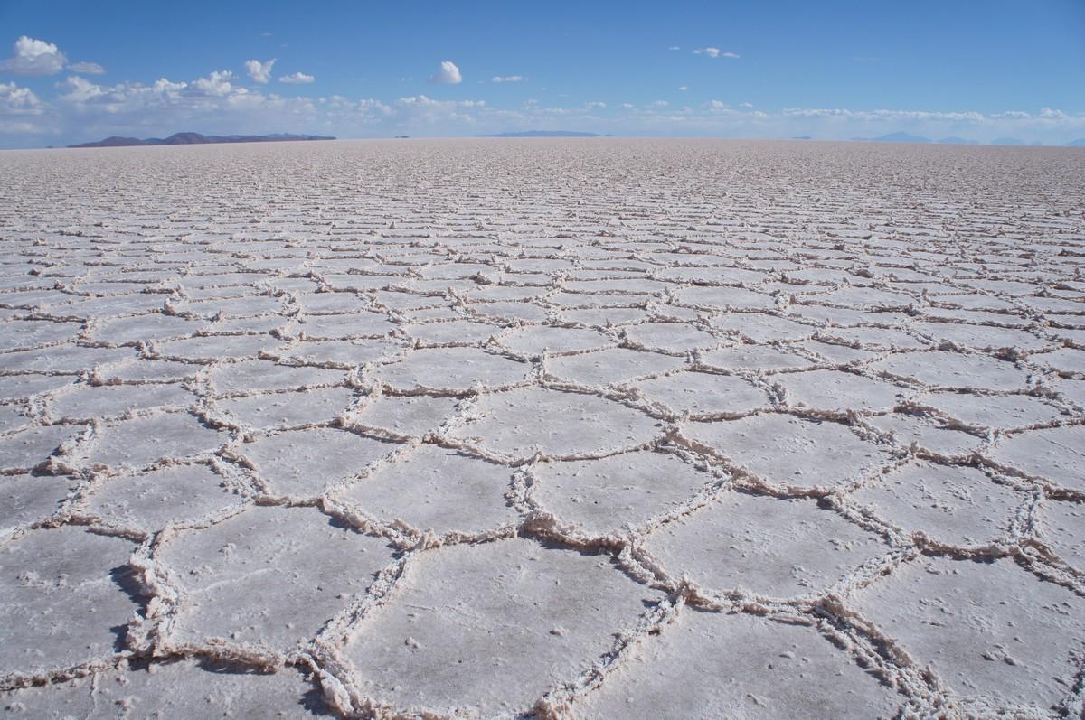 Quand le sol sèche, cela forme des croutes