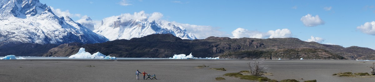 Lago Grey et ses icebergs