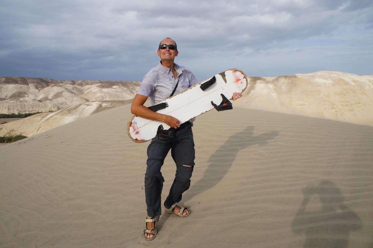 Dernier arrêt : descente en sandboard ...