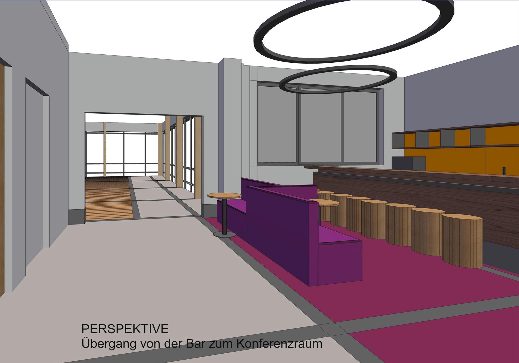 Übergang Cafeteria-Konferenzraum