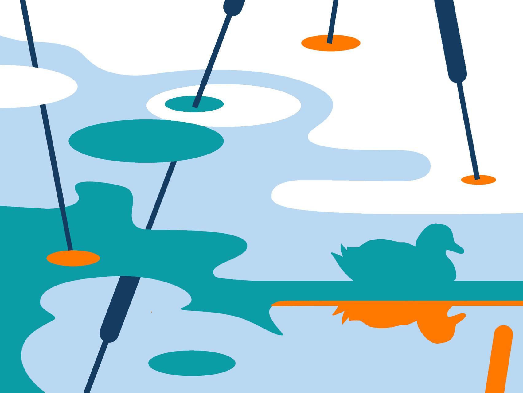 """Grafik """"Wasser"""" - Entwurf"""