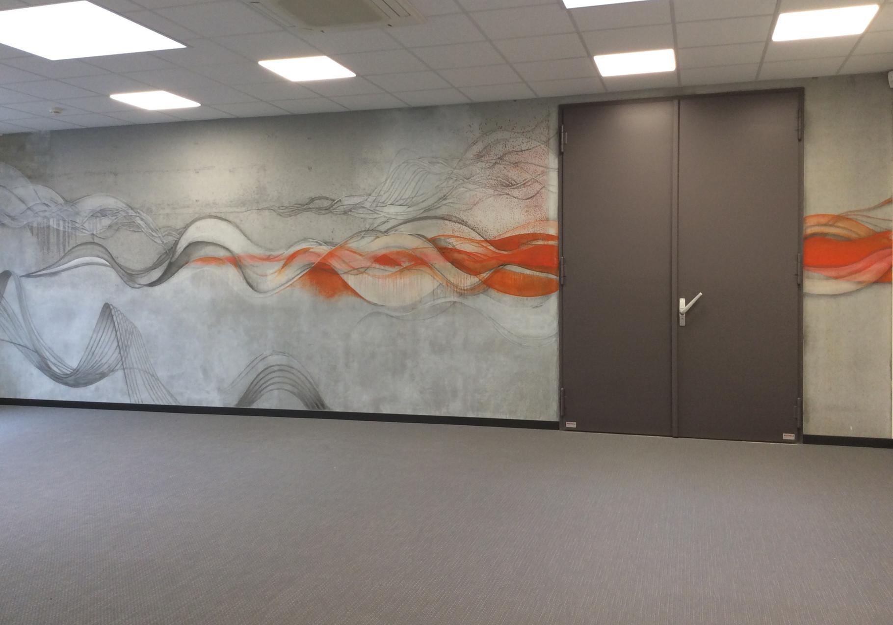 Wandmalerei im Schallprüfraum