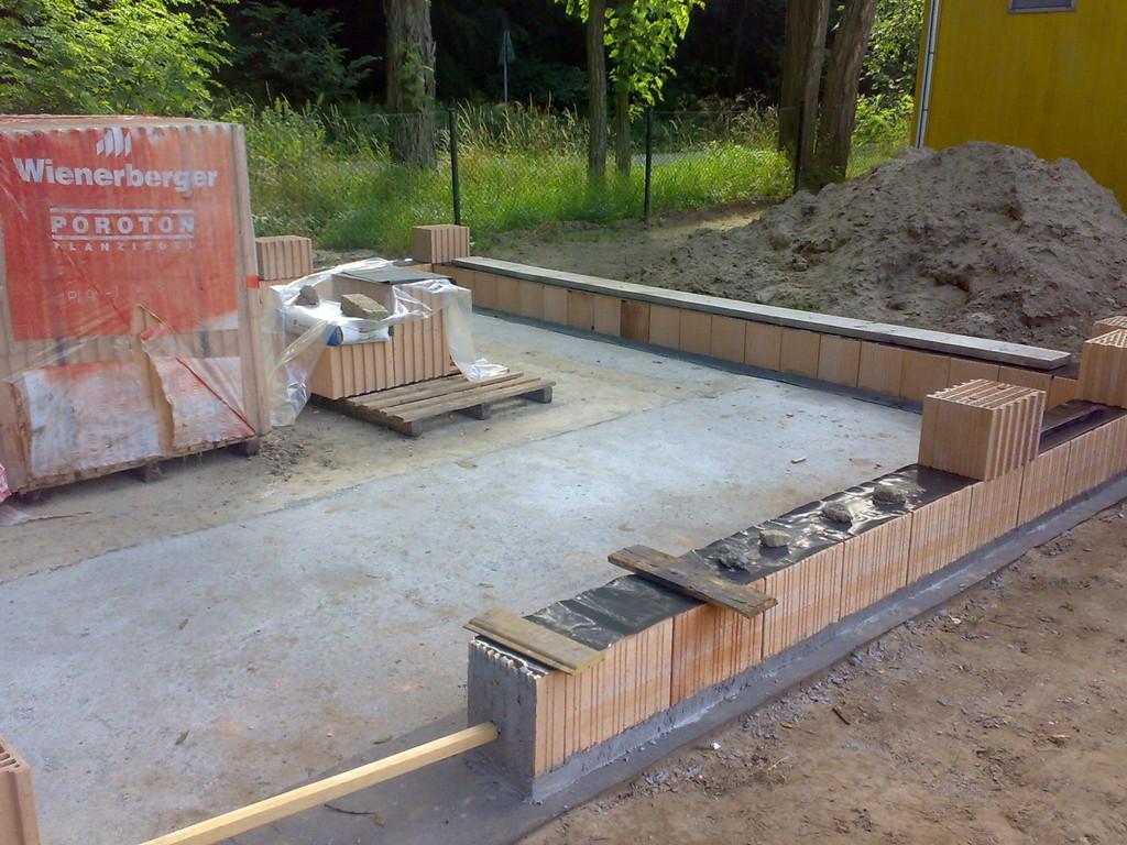 Vereinsheim wird gebaut.