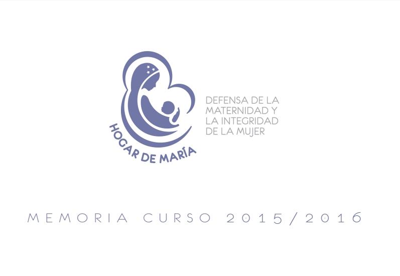 Memoria Asociación Hogar de María curso 2015/2016
