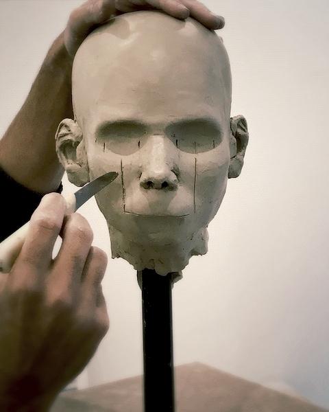 stage d'anatomie detaillee de la tete et du cou pour les sculpteurs et peintres par Fredange