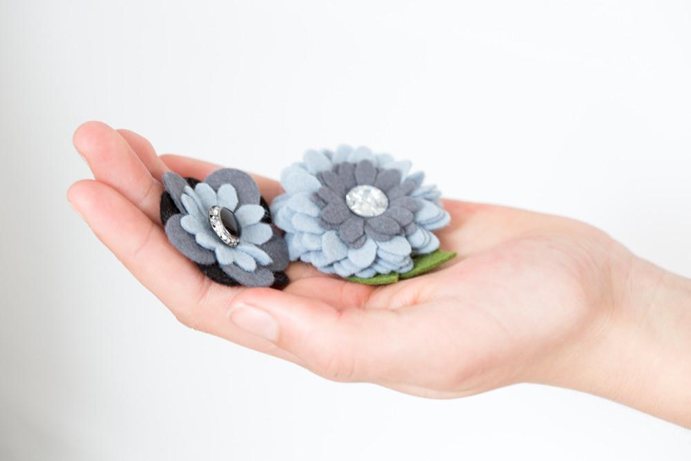 Filzblumen mit der Sizzix