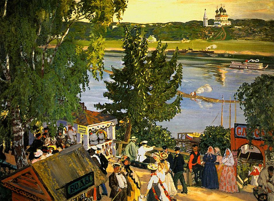 """Борис Кустодиев """"Прогулка на Волге"""""""