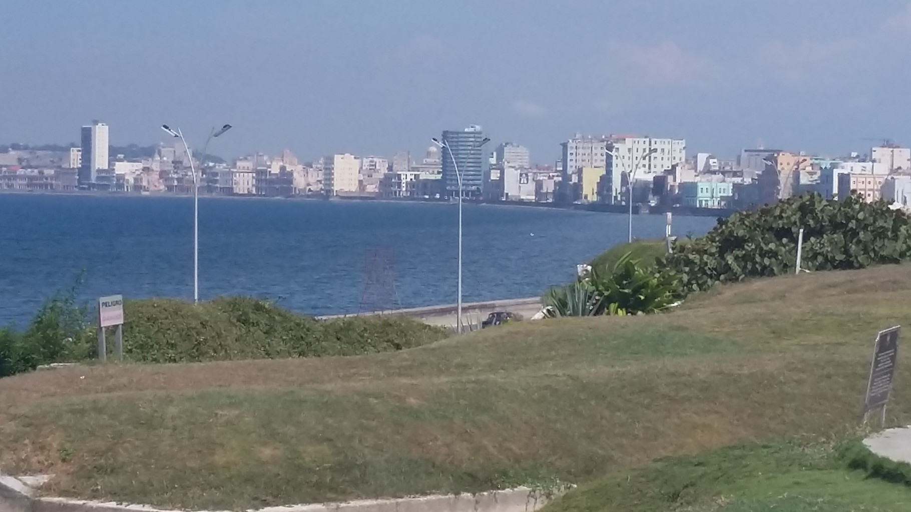 Vista panorámica del malecón de La Habana.
