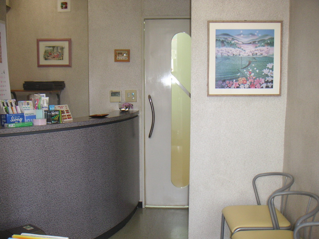 待合室と受付です。