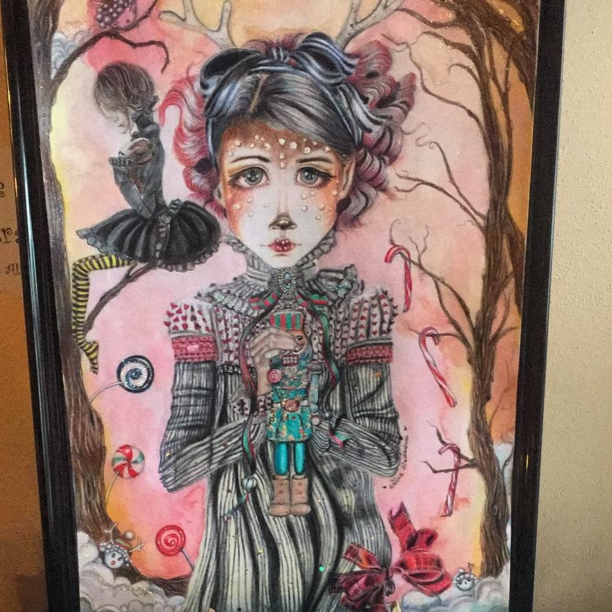 The puppetmaster in her magical forest...special christmas edition 200 euro Sold