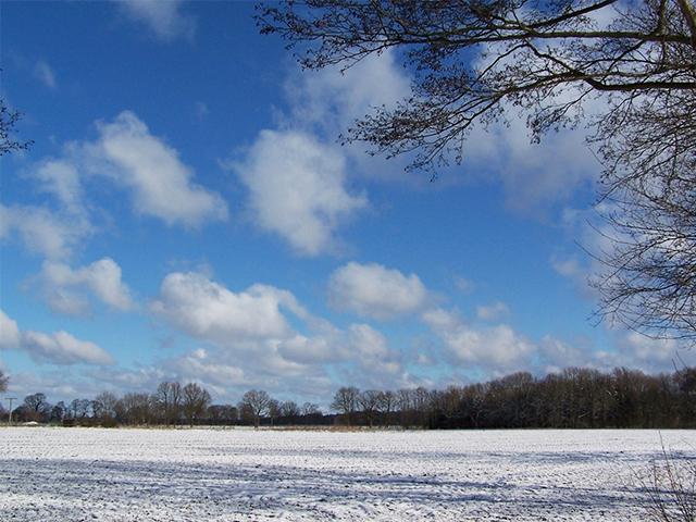 Winterlandschaft / Foto: NABU Oscar Klose