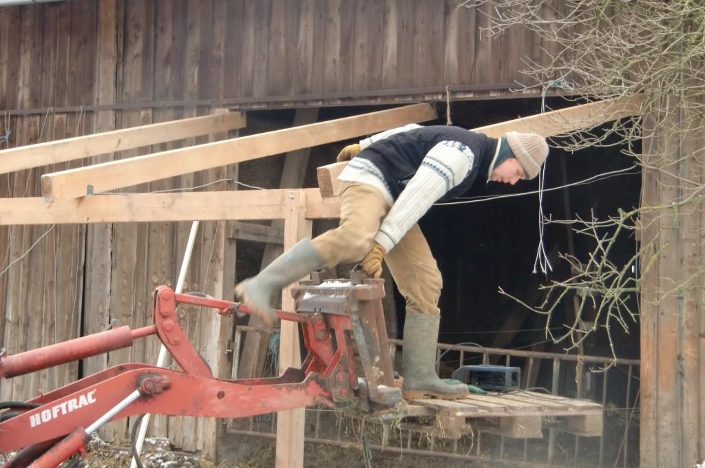 Er ersparte uns das Leiterumstellen...