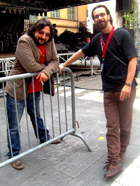 Enrico ed Angelo prima del live ad Imola in Musica 2008