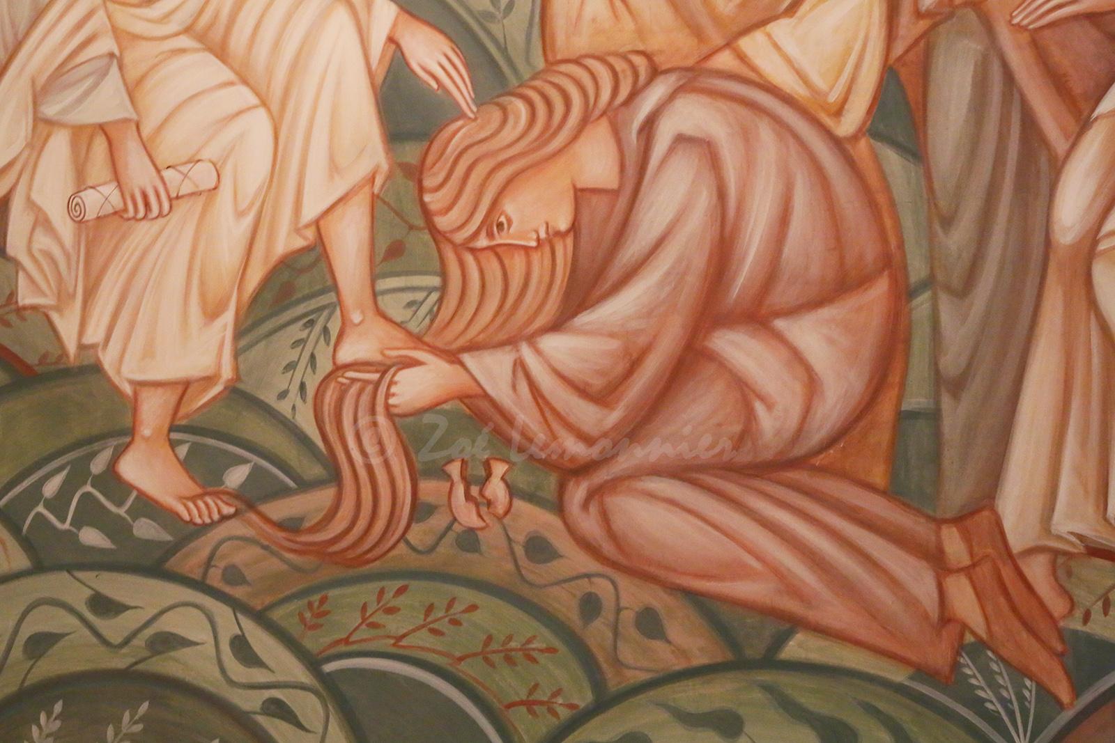 Détail de la fresque:  Marie Madeleine