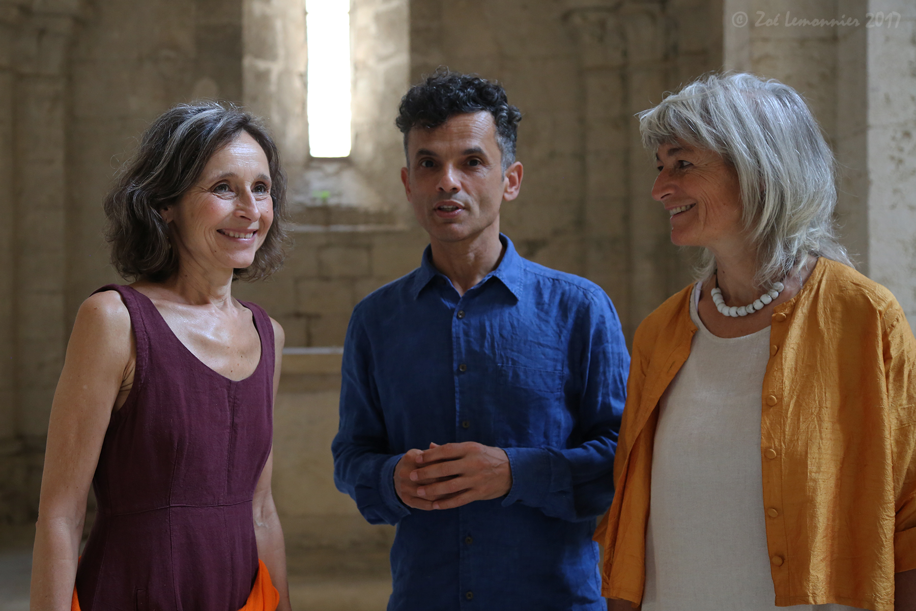 Cécile Voltz, Roberto Mourra et Laurence André, chants du monde