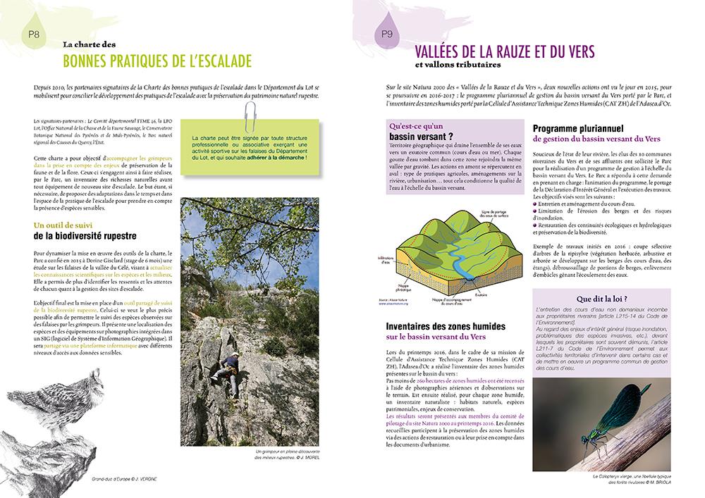 Brochure 12 pages - Lettre Natura 2000 - PNR du Quercy