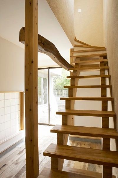 鵠沼のガレージハウス 土間-階段
