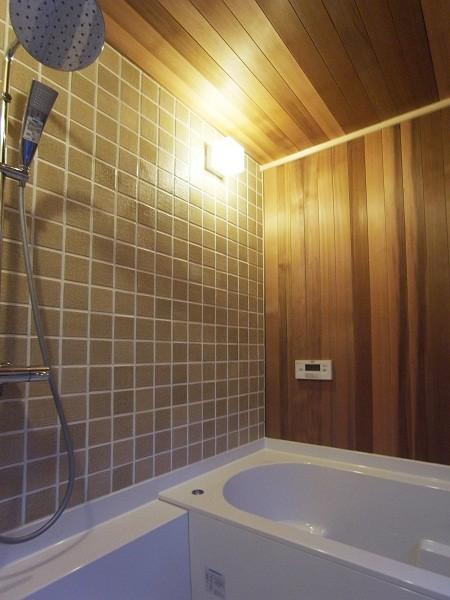 鵠沼のガレージハウス 浴室
