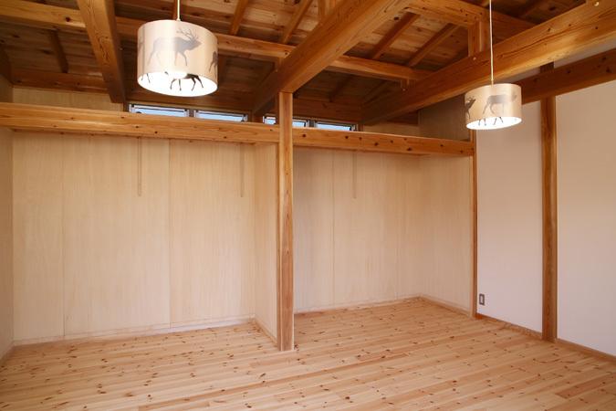 開放的な平屋住宅 子供部屋