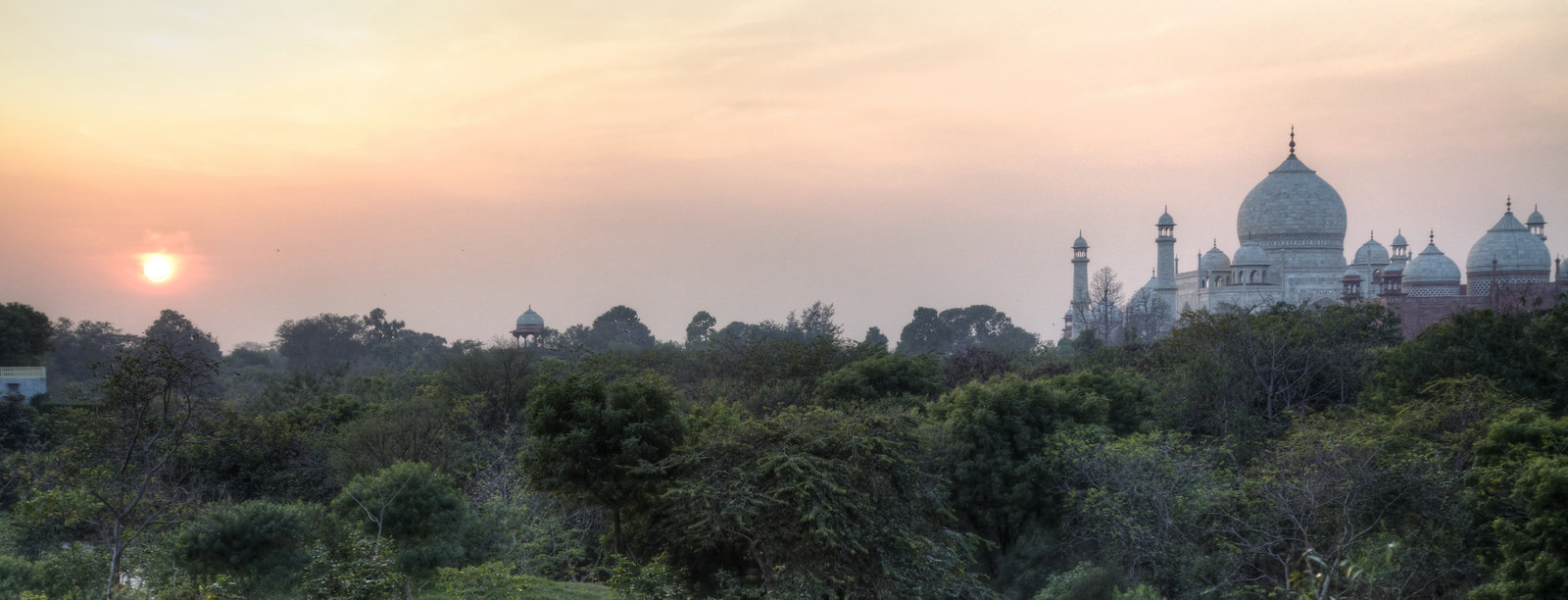 Taj Mahal at sunset*