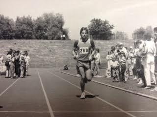 Ewald Wolf bei seinem ersten Triathlon 1984