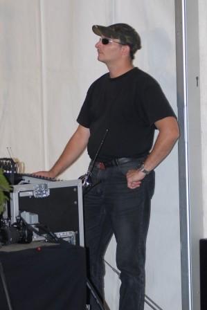 Klaus am Pult im Festzelt in Saarbrücken - 2013