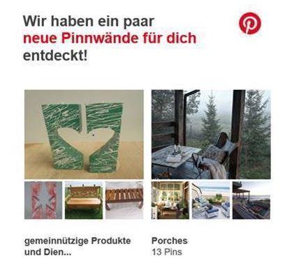Pinterest wirbt für Charitymarket.de