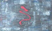 Geheimes Zeichen, Acryl auf GFK in 74,5x49